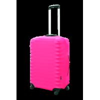 Чехол для чемодана  Coverbag дайвинг S розовый неон