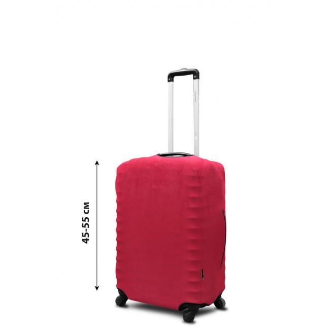 Чехол для чемодана Coverbag неопрен замш S красный