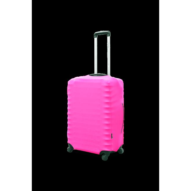 Чехол для чемодана Coverbag неопрен S розовый