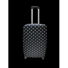 Чехол для чемодана Coverbag неопрен  S горох черный