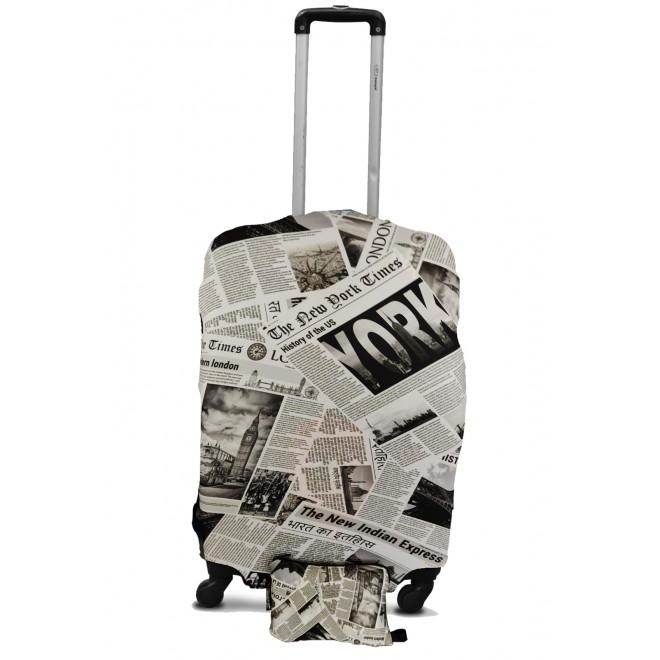 Чехол для чемодана Coverbag M газета 0434