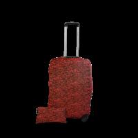 Чехол для чемодана Coverbag дайвинг L красный меланж