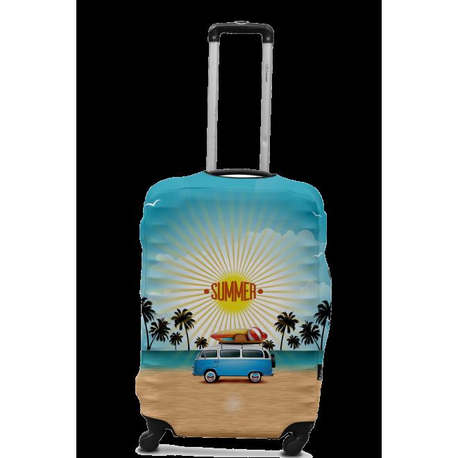 Чехол для чемодана Coverbag минивен L принт 0425