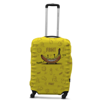 Чехол для чемодана Coverbag банан L принт 0424