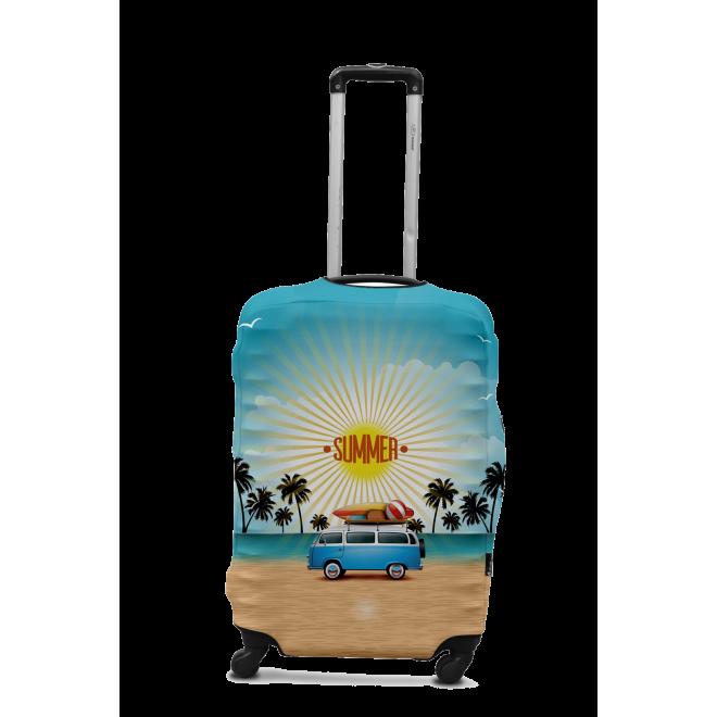 Чехол для чемодана Coverbag минивен M принт 0425