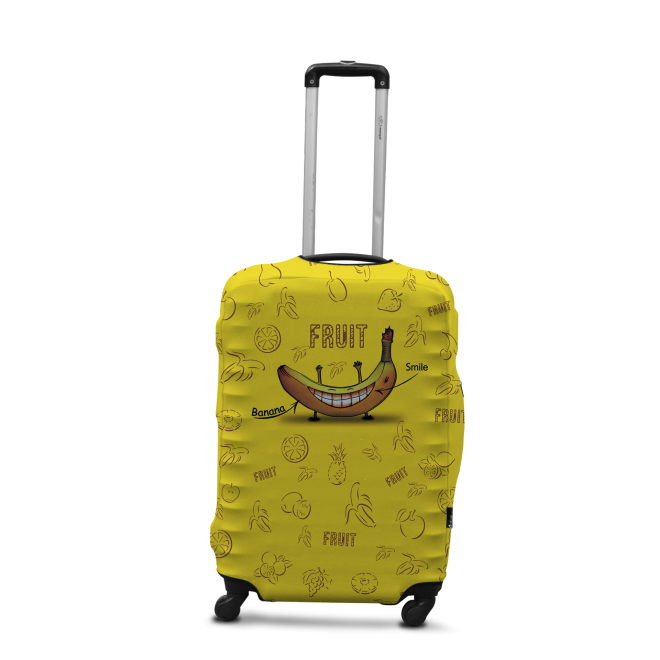 Чехол для чемодана Coverbag банан M принт 0424