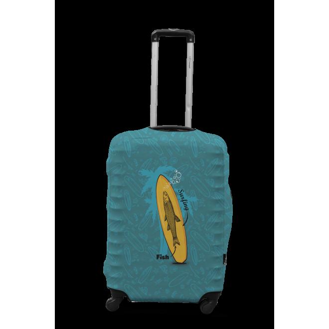Чехол для чемодана Coverbag серфинг M принт 0423