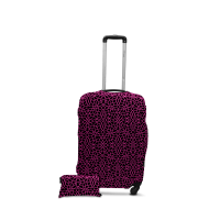 Чехол для чемодана  Coverbag  дайвинг  S  паутина розовая