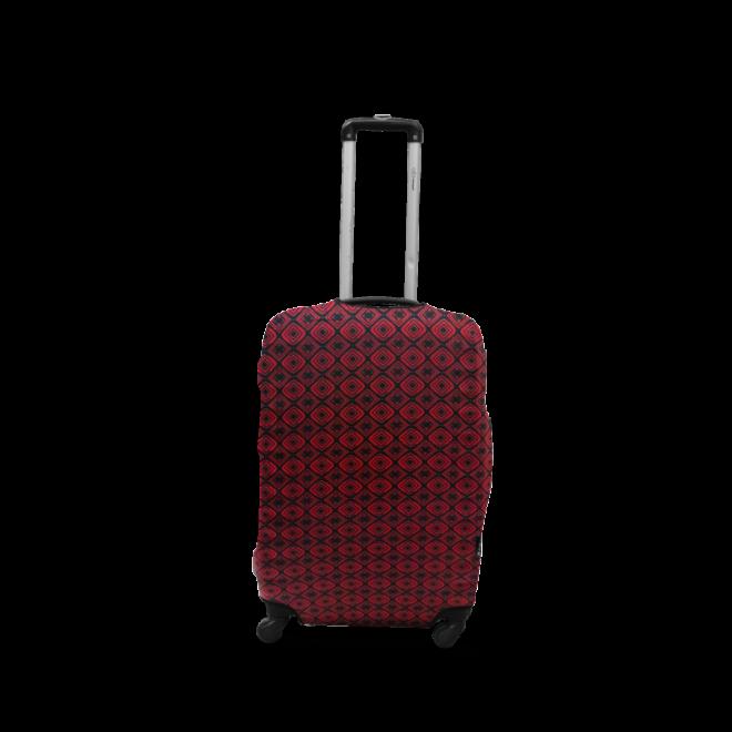 Чехол для чемодана Coverbag дайвинг L ромбы красные