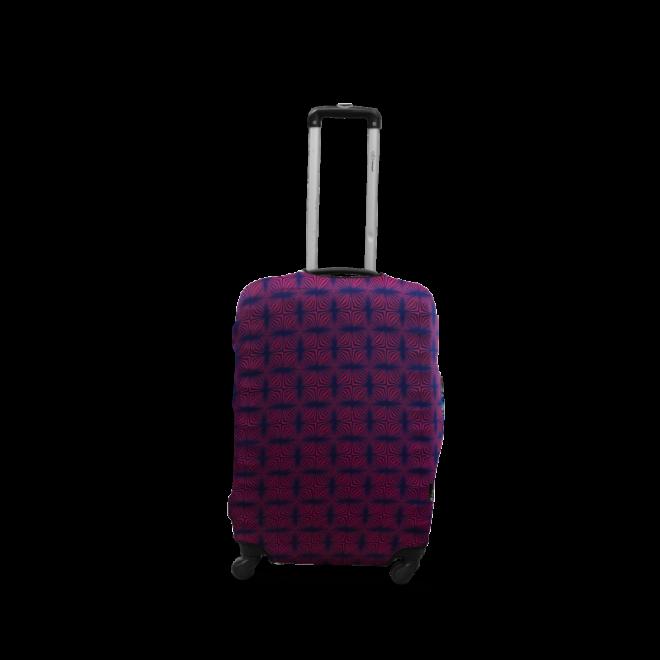 Чехол для чемодана Coverbag дайвинг S звезды на синем