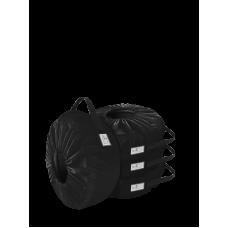 Комплект чехлов для колес Coverbag Eco S черный 4шт.