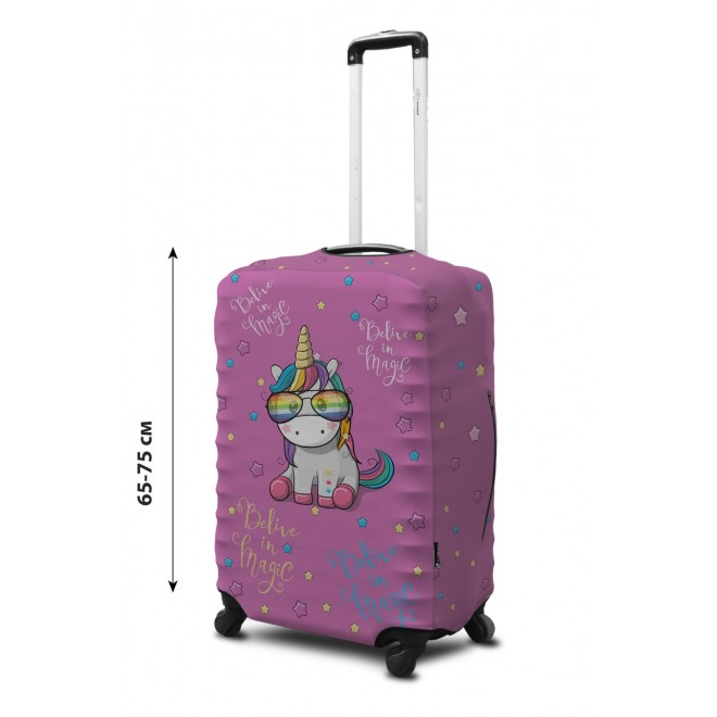 Чехол для чемодана Coverbag неопрен L Единорог