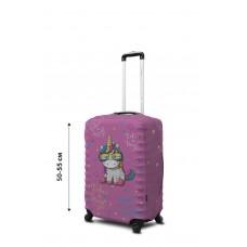 Чехол для чемодана Coverbag неопрен  S  Единорог