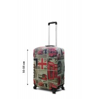Чехол для чемодана Coverbag неопрен  S  Лондон коллаж