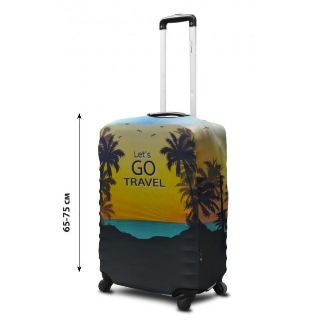 Чехол для чемодана Coverbag неопрен L Lets Go
