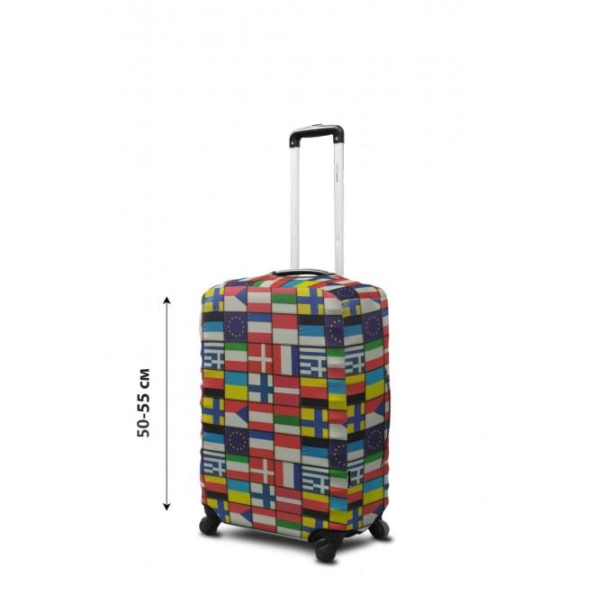 Чехол для чемодана Coverbag неопрен S Флаги мира