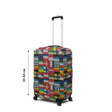 Чехол для чемодана Coverbag  неопрен  M Флаги мира