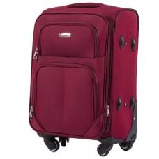 Тканевый чемодан Wings 214 маленький S на 4 колесах бордо