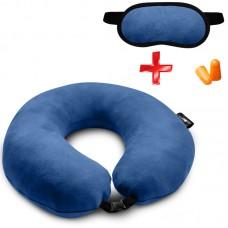 Подушка Coverbag для путешествий электрик + маска для сна
