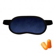Набор для сна Coverbag синий (маска + беруши)