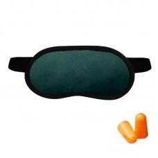 Набор для сна Coverbag зеленый (маска + беруши)