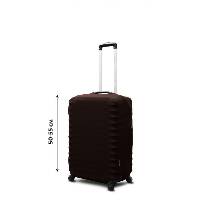 Чехол для чемодана Coverbag неопрен S шоколад