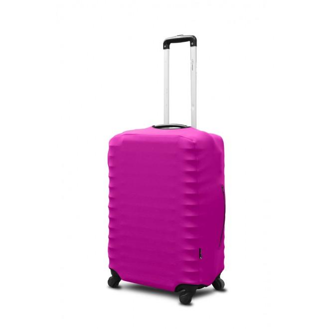 Чехол для чемодана Coverbag неопрен M фуксия