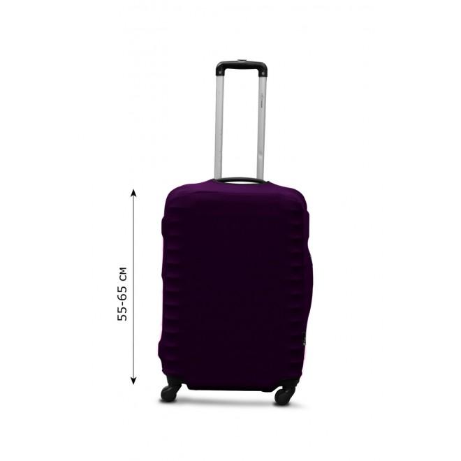 Чехол для чемодана Coverbag дайвинг M баклажан