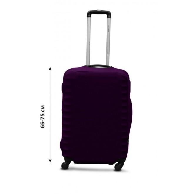 Чехол для чемодана Coverbag дайвинг L баклажан