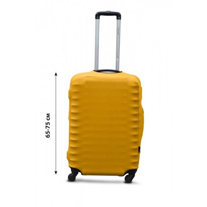 Чехол на чемодан Coverbag дайвинг L желтый