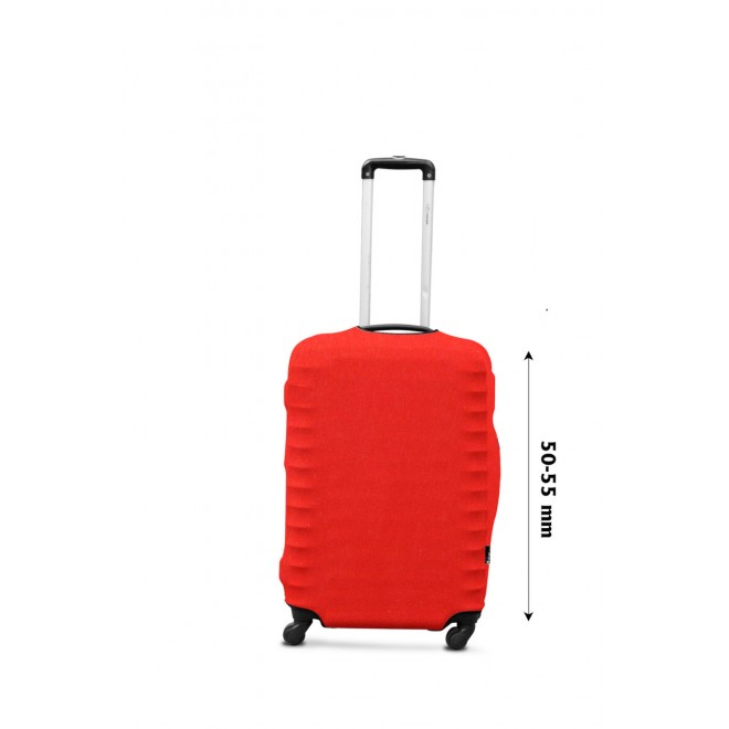 Чехол для чемодана Coverbag дайвинг S морковный