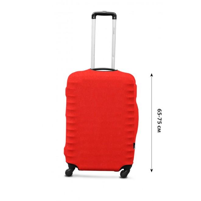 Чехол для чемодана Coverbag дайвинг L морковный