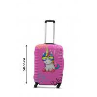 Чехол для чемодана Coverbag единорог S принт 0428