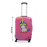 Чехол для чемодана Coverbag единорог L принт 0428