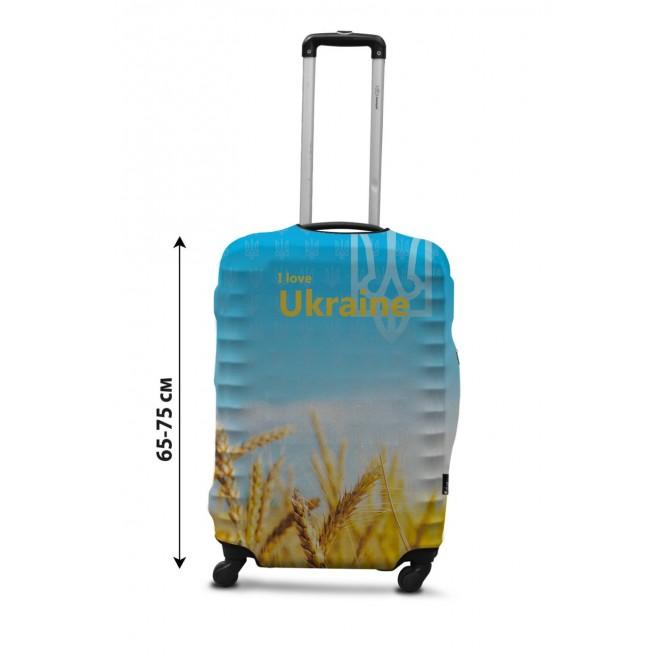 Чехол для чемодана Coverbag Украина новая L принт 0429
