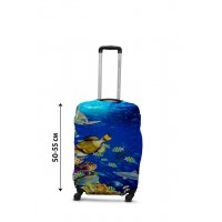 Чехол для чемодана Coverbag рыбки S принт 0430
