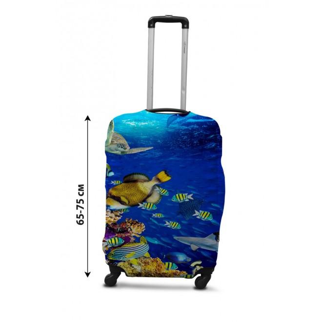 Чехол для чемодана Coverbag рыбки L принт 0430