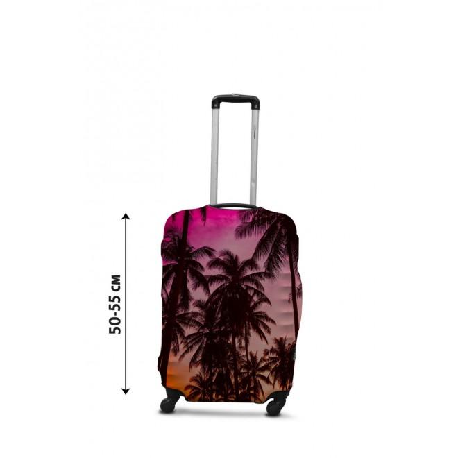 Чехол для чемодана Coverbag закат S принт 0431