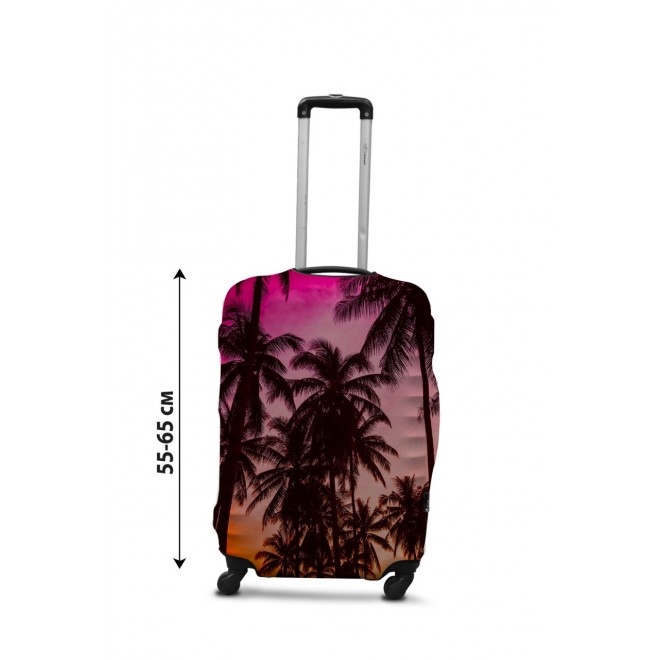 Чехол для чемодана Coverbag закат М принт 0431