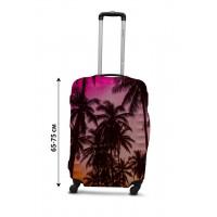 Чехол для чемодана Coverbag  закат L принт 0431