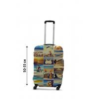 Чехол для чемодана Coverbag коллаж море S принт 0432