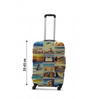 Чехол для чемодана Coverbag коллаж море М принт  0432