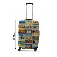 Чехол для чемодана Coverbag  коллаж море L принт 0432