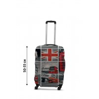 Чехол для чемодана Coverbag коллаж Лондон S принт 0433