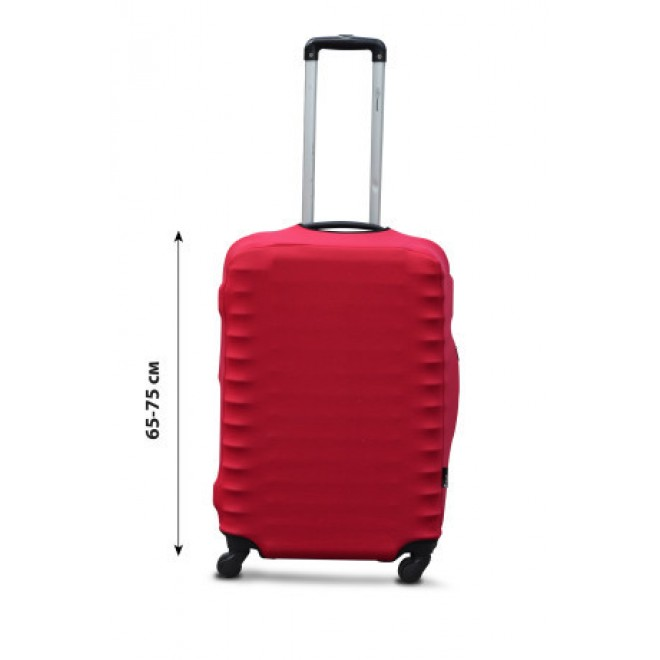 Чехол на чемодан Coverbag дайвинг L красный