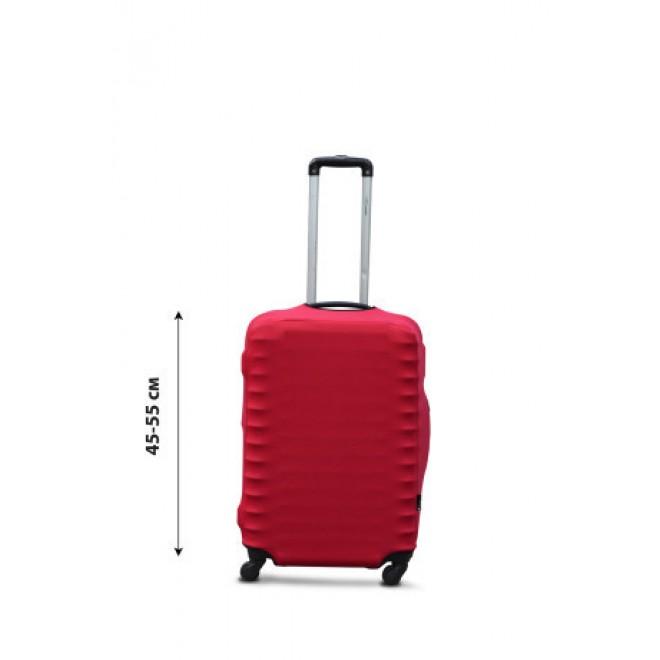 Чехол на чемодан Coverbag дайвинг S красный