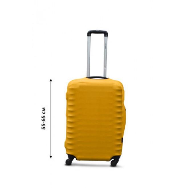 Чехол на чемодан Coverbag дайвинг M желтый