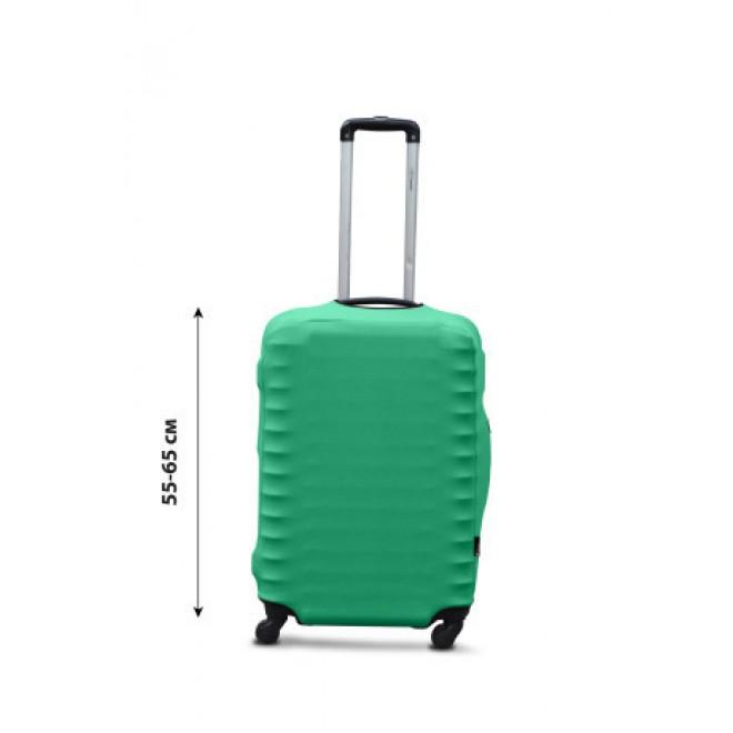 Чехол для чемодана Coverbag дайвинг M мята