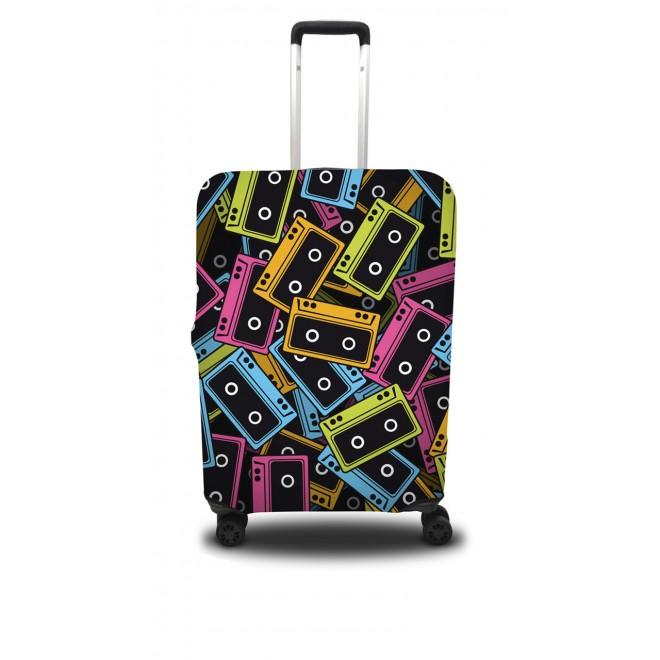Чехол для чемодана Coverbag кассеты S принт 0401