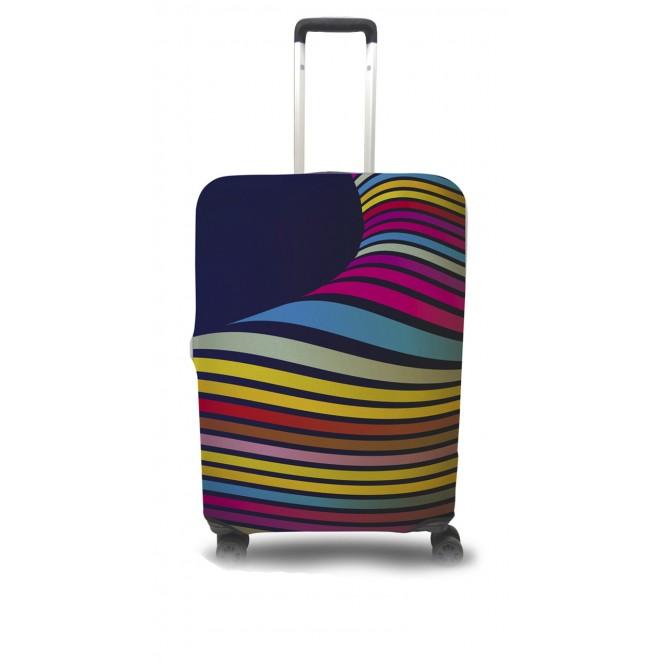 Чехол для чемодана Coverbag волны S принт 0402